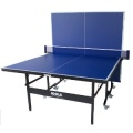 Photo of partly folded table tennis table