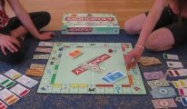 Photo of Monopoly board during a game