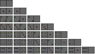 Set of Domino Tiles
