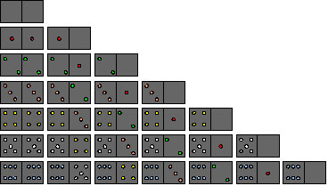 Set of Domino Tiles