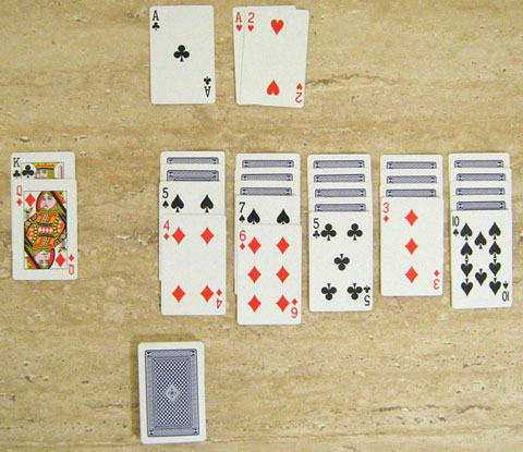 A game of Klondike after all opening moves
