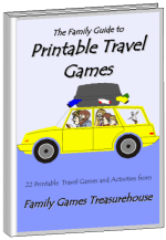 Cover of The Family Guide to Printable Travel Games ebook